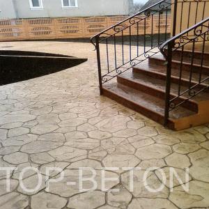 Штампованный бетон - ступеньки