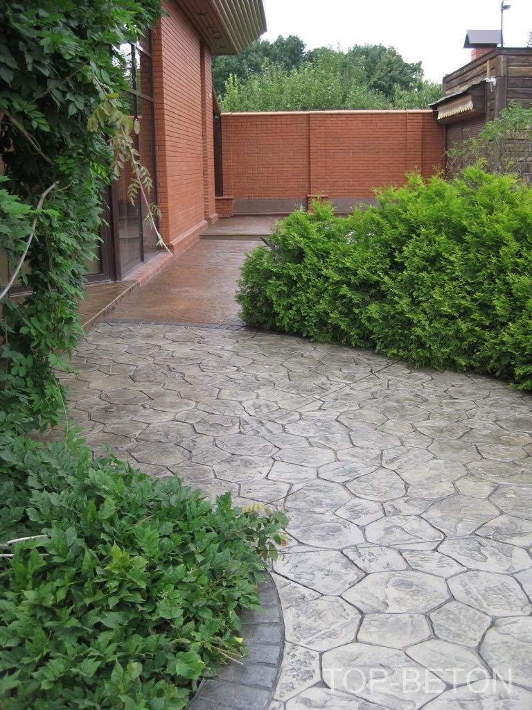 Печатный бетон в декорировании поверхностей